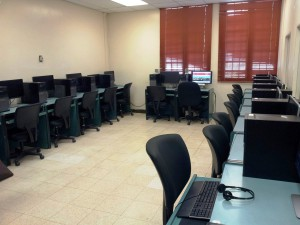 Newly equipped computer room