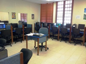 The newly renovated language lab